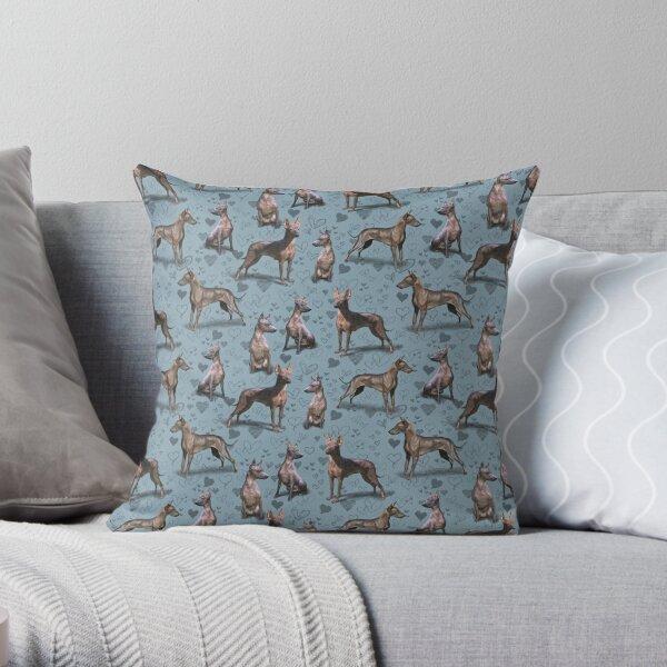 The Mexican Hairless Xoloitzcuintli Dog Xolo Throw Pillow
