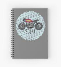 Cafe Racer Slunt Spiral Notebook