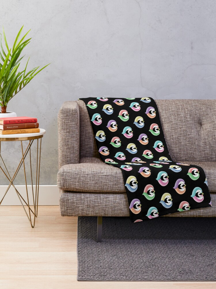 Alternate view of Unique Love Throw Blanket