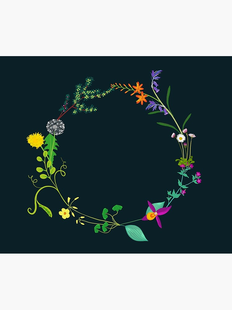 Ring of beautiful plants, flowers by zillahdee