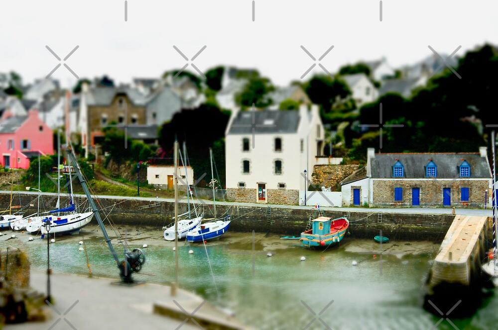 Port du Bono Brittany France - Tilt Shift Effect by Buckwhite