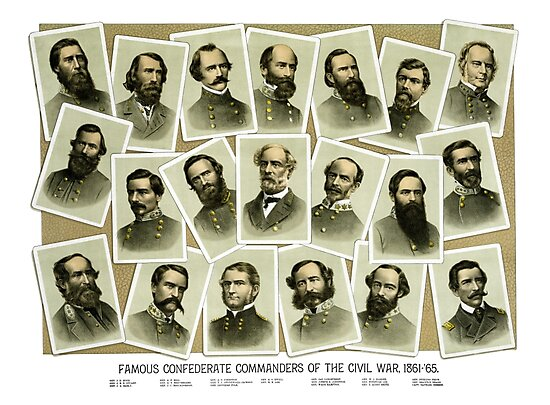 Confederate Commanders of The Civil War by warishellstore