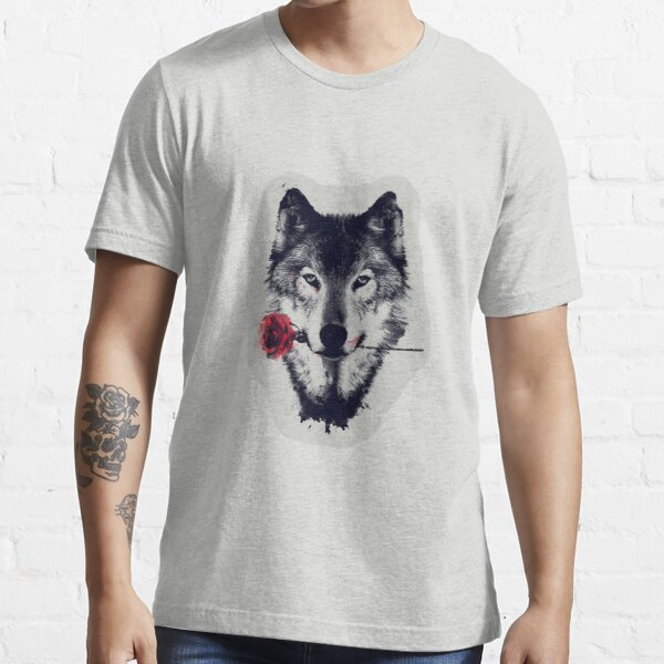 The Wolf With a Rose Essential T-Shirt