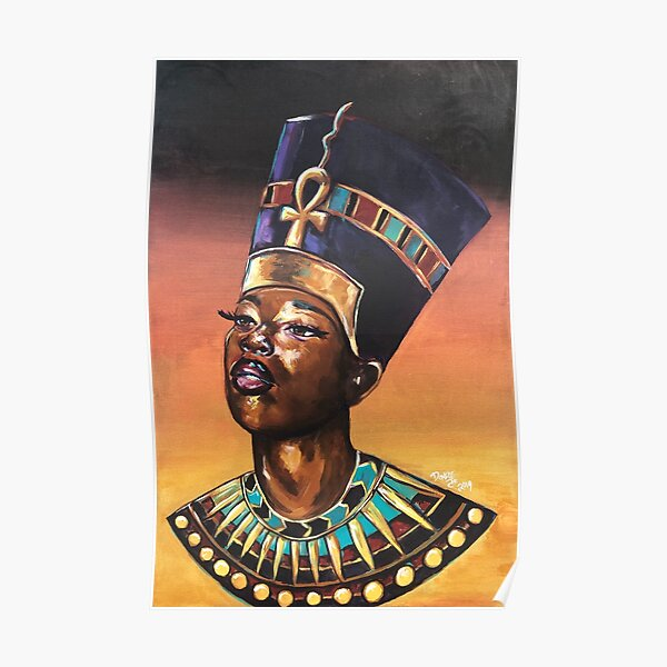Melanated Nefertiti Poster