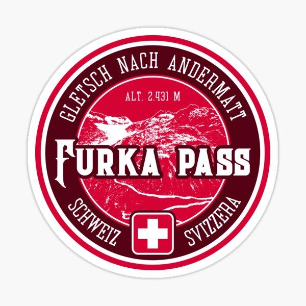 Furka Pass Switzerland 03 T-Shirt + Sticker Sticker