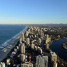 The Gold Coast Taken From The Q1. Queensland, Australia. by Ralph de Zilva