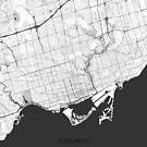 Toronto Karte Grau von HubertRoguski