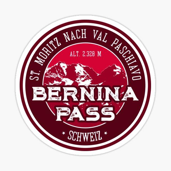 Bernina Pass Switzerland T-Shirt + Sticker Sticker