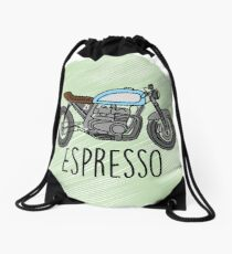Espresso - Cafe Racer Drawstring Bag