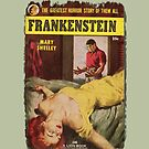 Frankenstein Monster Retro Pulp Fiction Fun For Halloween and Year Round  by MHirose