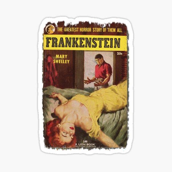 Frankenstein Monster Retro Pulp Fiction Fun For Halloween and Year Round  Sticker