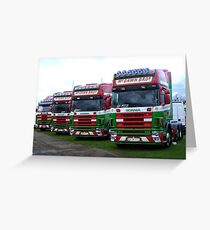Trucks Greeting Card