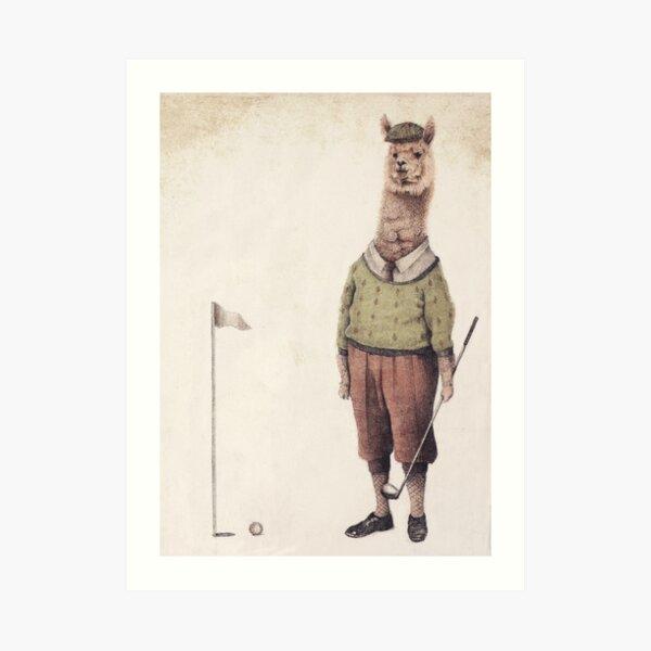 Alpaca Golf Club Art Print