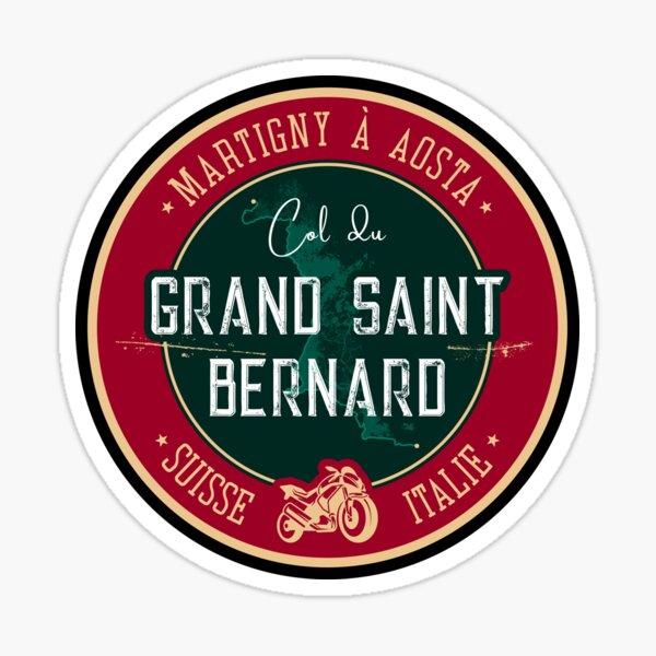 Pegatina Col Du Grand Saint Bernard Motocicleta Suiza Pegatina + Camiseta Pegatina