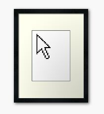 A computer pointer mouse direction device Framed Print
