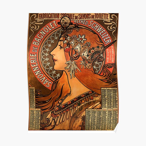 Alphonse Mucha 19 Handkerchief Scarf Combo Poster for Chocolat IdealSapphire Blue Limited Art Nouveau Gift 100/% Cotton Gifts for Her