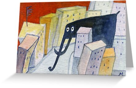 Elephant in the City by Marianna Tankelevich