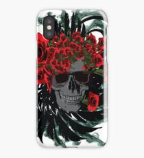 Roses skull iPhone Case/Skin