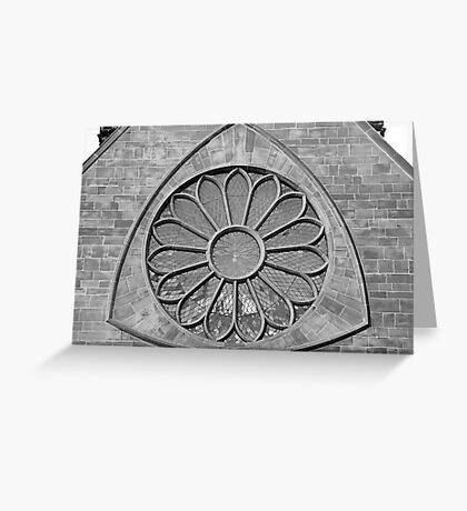 Cathedral Window in B&W Greeting Card