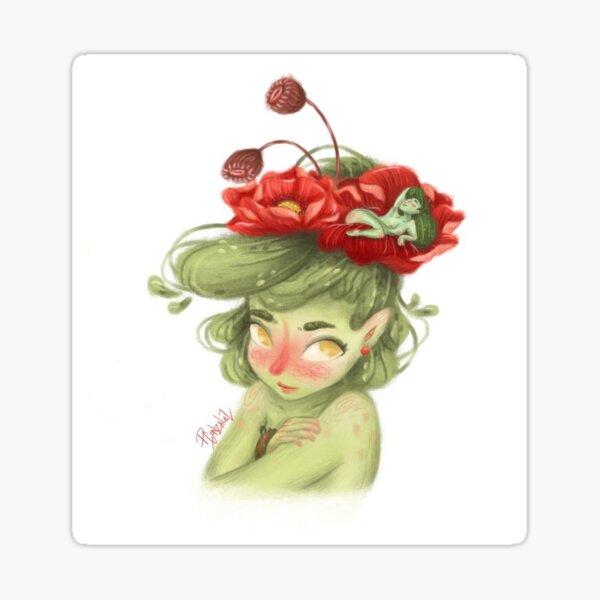 flor Pegatina