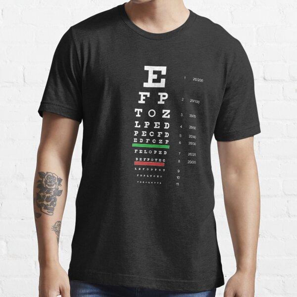 Snellen Eye Chart Camiseta esencial