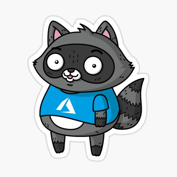 Azure Bit the Raccoon Sticker