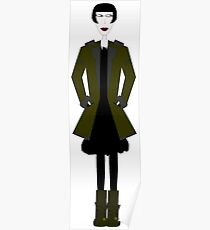 Goth Girl Character Poster