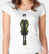 Goth Girl Character Women's Fitted Scoop T-Shirt