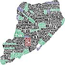 Staten Island Typographic Map by icoNYC