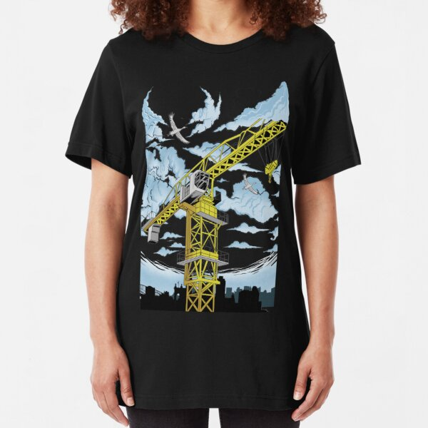Tower Cranes Work Slim Fit T-Shirt
