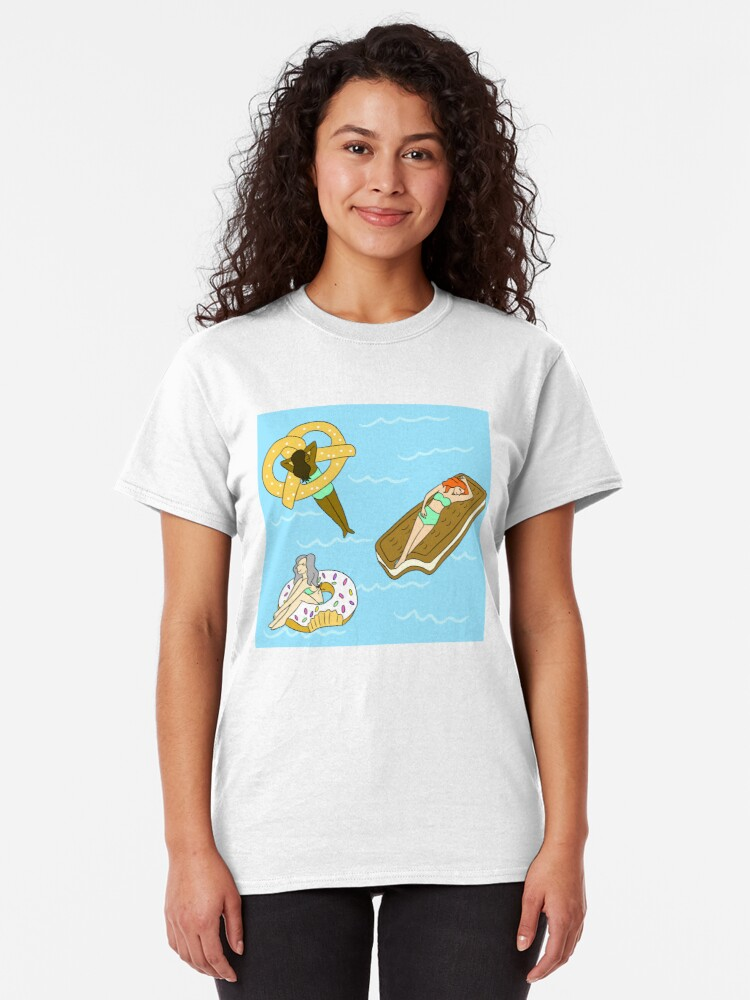 Alternate view of Foodie Pool Party Classic T-Shirt
