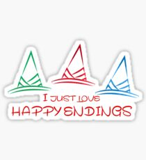 Happy endings Sticker