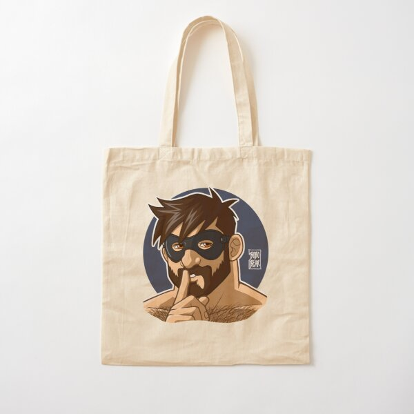 ADAM LIKES TO BE NAUGHTY Cotton Tote Bag