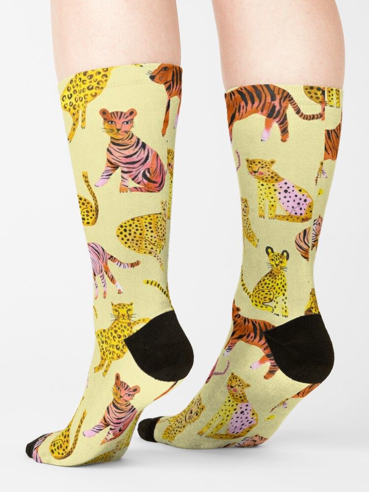 Alternate view of Tigers and Leopards Africa Savannah Socks