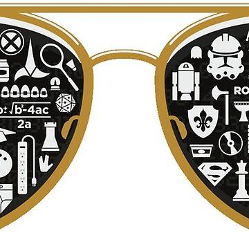 Retro Glasses - Star Wars - Kill Bill - Movies by hidden-arts