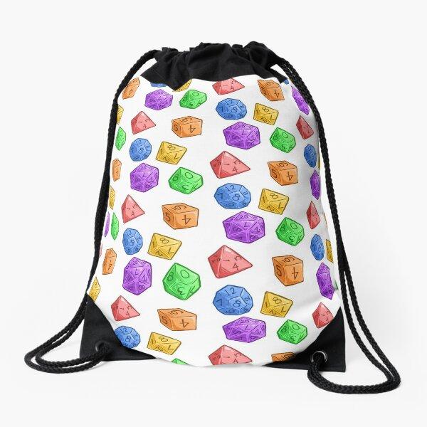 Rainbow Jelly Dice Drawstring Bag
