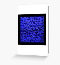 Blue Curls Greeting Card