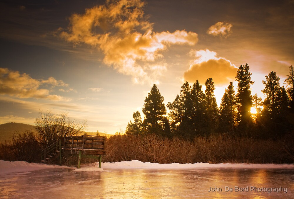 The Dock Of Winter  by John  De Bord Photography