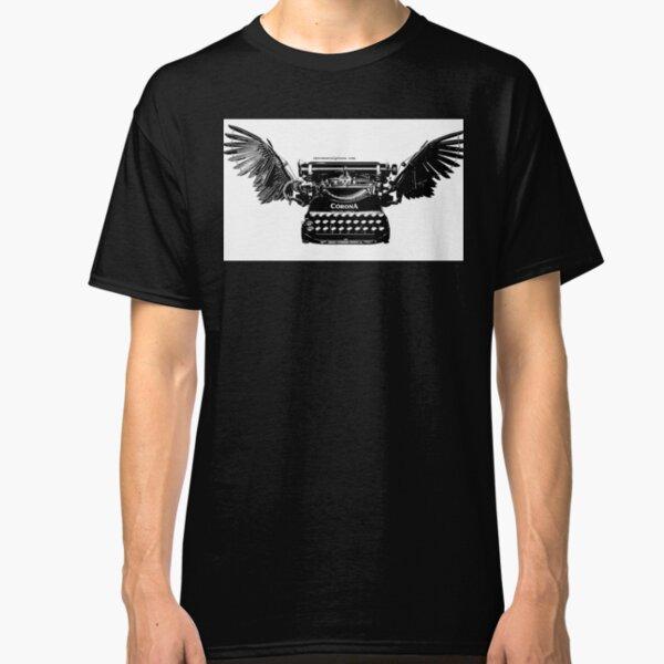 Vintage Style B&W Winged Corona Typewriter Classic T-Shirt