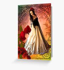 NOUVEAU ROSE Greeting Card