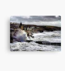porthleven storm Canvas Print