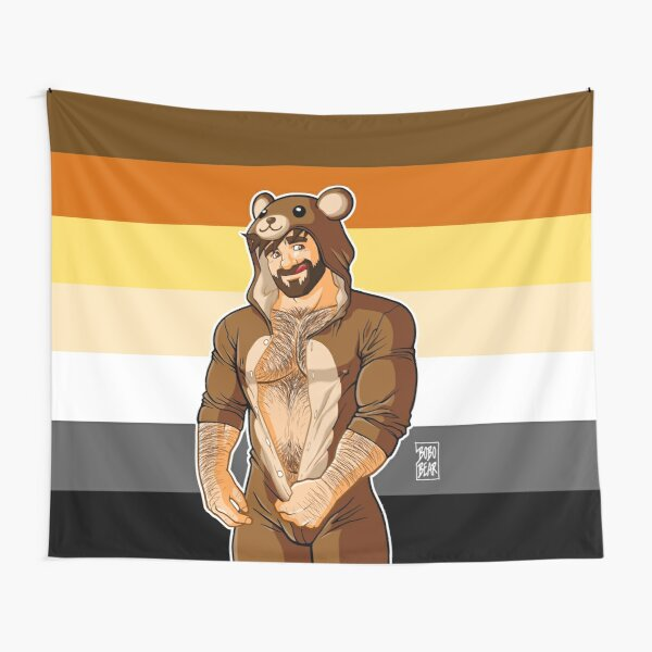 ADAM LIKES TEDDY BEARS - BEAR PRIDE Tapestry