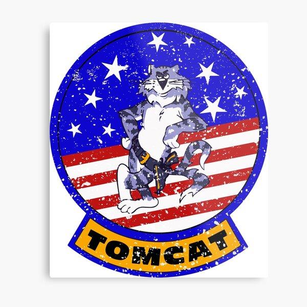 Tomcat Vintage Insignia US Flag Metal Print