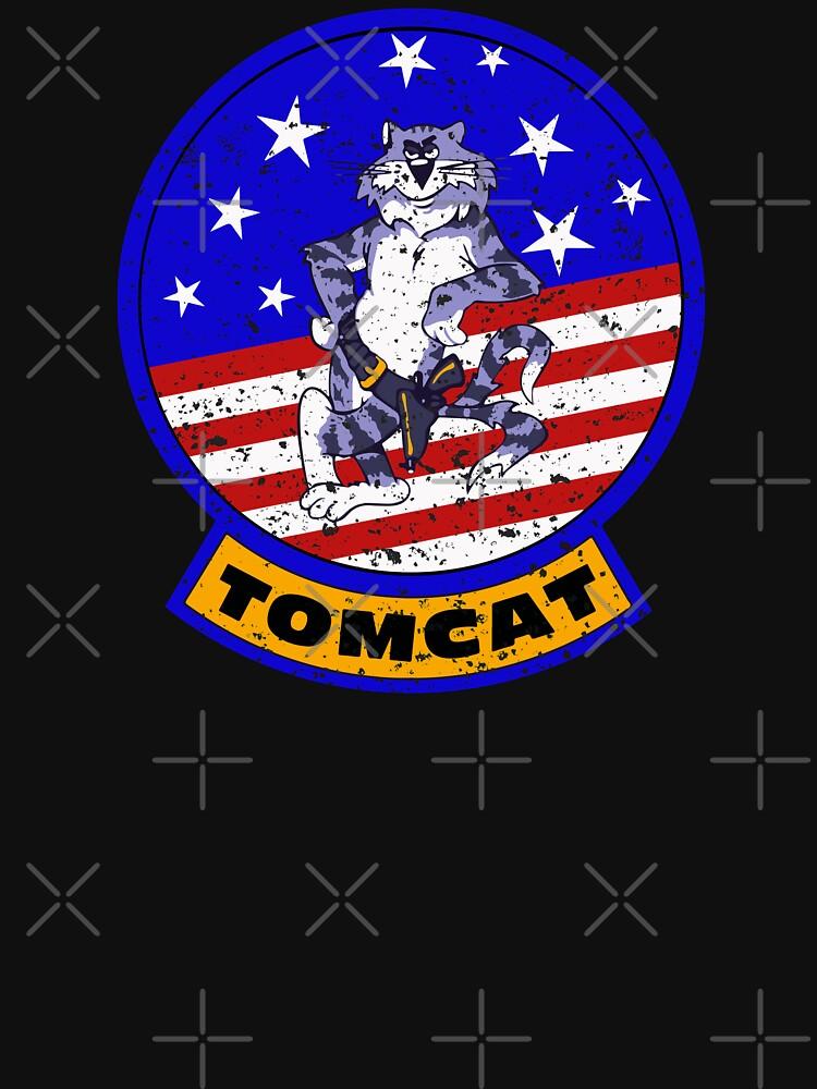 Tomcat Vintage Insignia US Flag by ruiazevedo