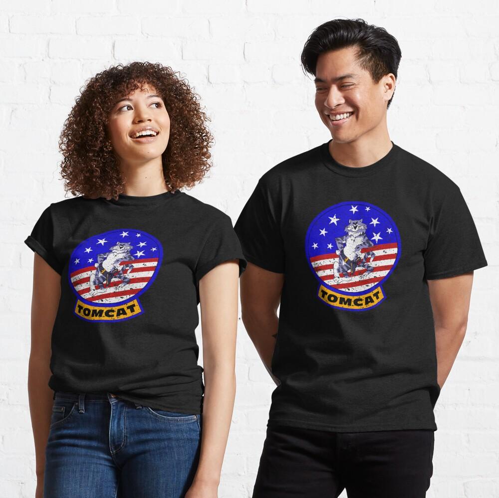Tomcat Vintage Insignia US Flag Classic T-Shirt