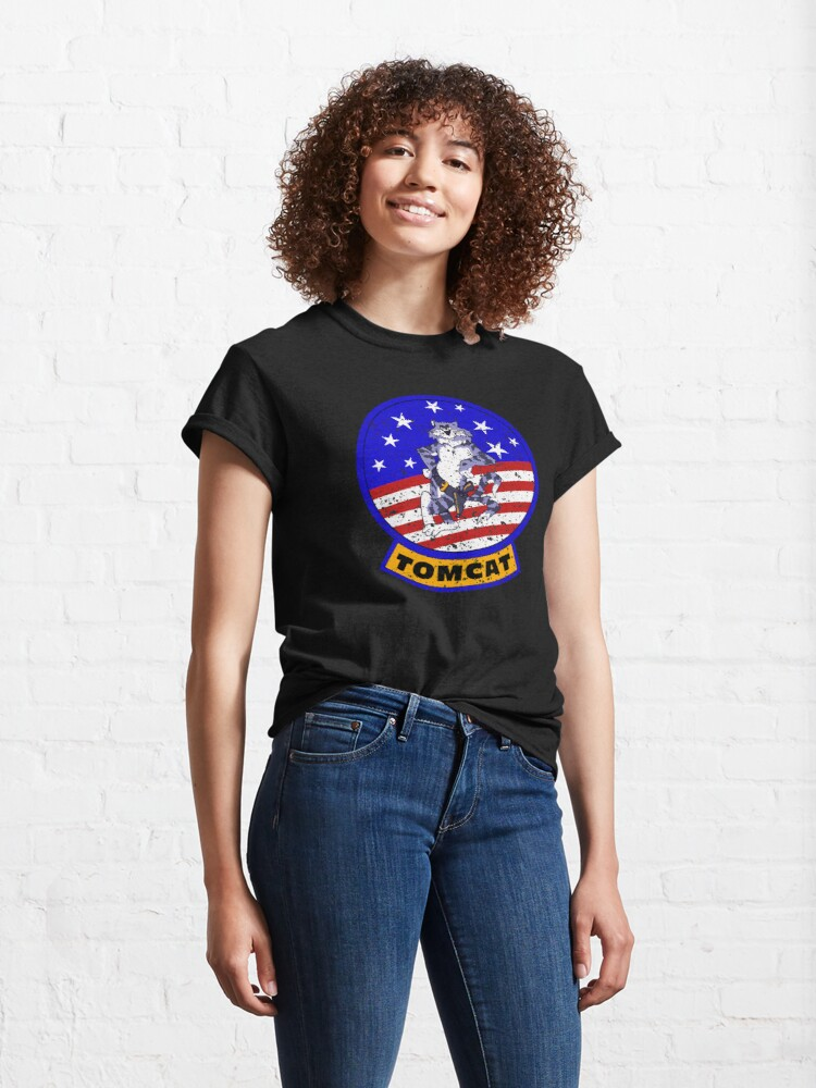 Alternate view of Tomcat Vintage Insignia US Flag Classic T-Shirt