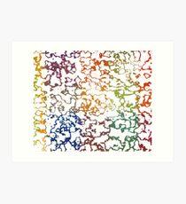 Colorful Doodles Art Print