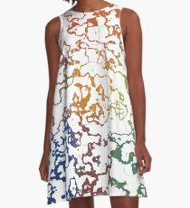Colorful Doodles A-Line Dress