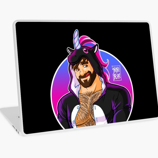ADAM LIKES UNICORNS - ROUND DETAIL Laptop Skin