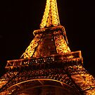 Glowing Gold Eiffel by Michael Matthews